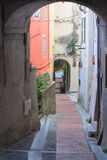 Old street in Menton Royalty Free Stock Photo