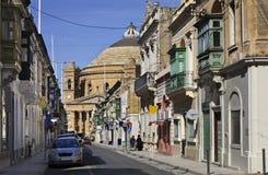 Old street in Mosta. Malta.  Royalty Free Stock Photo