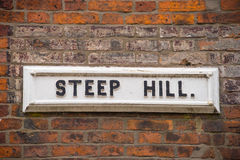 Old street name plate Royalty Free Stock Photo