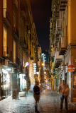 Old street of Naples at night Stock Photo
