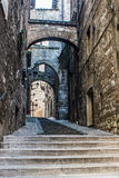 Old street in Narni, a medieval Italian city Royalty Free Stock Photos