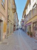 Old street near Guarda Cathedral Royalty Free Stock Photos