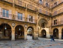Old street near  Plaza Mayor. Salamanca Stock Photos