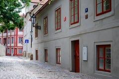 Old Street near Prague Castle Stock Image