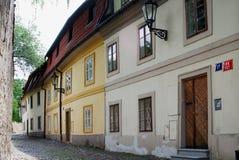 Old Street near Prague Castle Stock Images