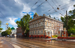 Old street in Nizhny Novgorod Stock Photography