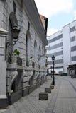 Empty old street in Novi Sad, Serbia stock images
