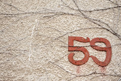 Old street number Royalty Free Stock Photo