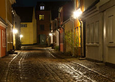 Old street in Odense. Old streets in the old area of Odense Royalty Free Stock Photography