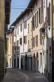Old street of Oggiono, Italy stock images