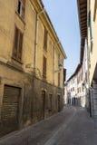 Old street of Oggiono, Italy stock image