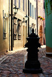 Old street in the old town of Riga Stock Image
