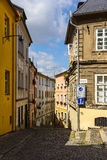 Old street in Olomouc (Olmütz), Czech Republic. Royalty Free Stock Photography
