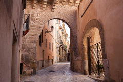 Old street of Palma de Mallorca. Photo of old street of Palma de Mallorca Royalty Free Stock Images