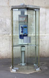 Old street phone in Lyon Royalty Free Stock Image