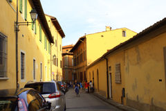 Old street Pisa Italy Royalty Free Stock Images