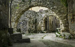 Old Street in Plomin, Croatia Royalty Free Stock Photography