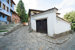 Old street in Plovdiv Royalty Free Stock Photos