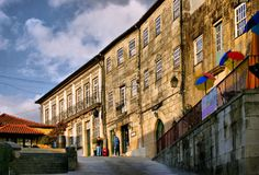 Old street in Ponte de Lima royalty free stock photography