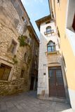 Old street of Porec, Croatia Royalty Free Stock Images
