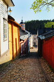 Old street in Porvoo, Finland Royalty Free Stock Image