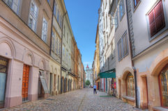 Old street in Prague. Royalty Free Stock Photography