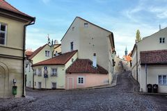 Old street in Prague Royalty Free Stock Photo