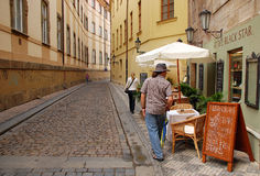Old Street in Prague Royalty Free Stock Photos