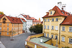Old street in Prague Europa roof Stock Photo