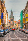 Old street at Prague historical center Royalty Free Stock Image