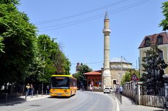 Old street in Pristina, Kosovo stock photography