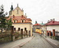 Old street in Przemysl. Poland Stock Images