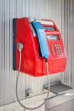 Public payphone. Old street public payphone on the street of Moscow close-up royalty free stock photography