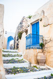 Old street in Pyrgos village Royalty Free Stock Images