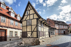 Old street in Quedlinburg Stock Image