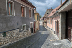 Old street of residential buildings. Stock Photography