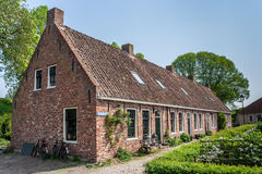Old street in the restored village of Boertange in Groningen Royalty Free Stock Photography