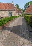 Old street in the restored village of Boertange in Groningen Royalty Free Stock Image