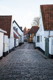 Old Street in Ribe, Denmark. Oldest town in Europe Royalty Free Stock Image