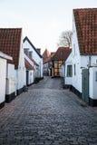 Old Street in Ribe, Denmark Royalty Free Stock Image