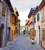 Old street in Rimini, Italy.  royalty free stock photography