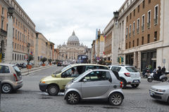 Old street of Rome city Royalty Free Stock Photo