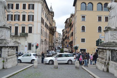 Old street of Rome city Stock Image