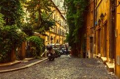 Old street in Rome stock photo