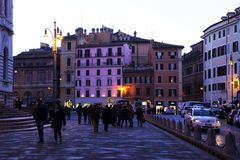 Old street in Rome. Old street of Rome at night, Italy Royalty Free Stock Photos