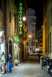 Old street in Rome. Old street of Rome at night, Italy Royalty Free Stock Photo