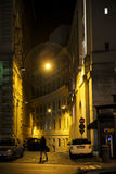 Old street in Rome. Old street of Rome at night, Italy. 28/12/2016 Royalty Free Stock Photos