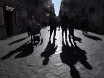 Old street in Rome stock photography