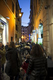 Old street in Rome. Tourist at  the old street of Rome, Italy Stock Photo