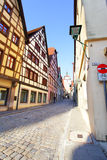 Old street in Rothenburg Royalty Free Stock Images